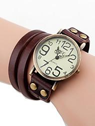 mulan cuir de vache cru montre-83 (brun)
