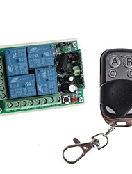 12V de 4 canais sem fio Módulo de Relé de potência remoto com controle remoto (DC28V-AC250V)