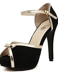 ipien chaussures bowknot grande de dîner de talon (noir)