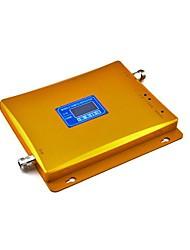 Display LCD de 900 MHz GSM / 3G W-CDMA 2100MHz dual del teléfono móvil de banda de señal de refuerzo, adaptador de corriente + repetidor de la señal