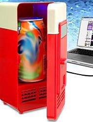 Mini desktop usb pc portátil frigorífico de bebidas latas de bebidas frigorífico (cor aleatória)
