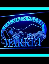 Farmers Fresh Market Advertising LED Light Sign