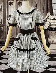 Mangas curtas O pescoço Algodão Doce Lolita Vestido