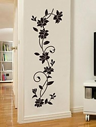 Botánico Romance De moda Pegatinas de pared Calcomanías de Aviones para Pared Calcomanías Decorativas de Pared,Vinilo MaterialLavable