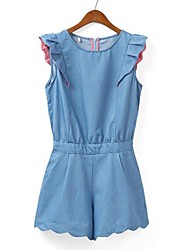 Women's Blue Jumpsuits , Sexy/Casual/Cute Sleeveless