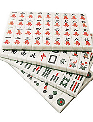 20mm Travel Environmental Green and White Mahjong Pack with Cloth Bag