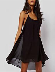 PEARL Women's Sexy/Casual/Party V-Neck Sleeveless Dresses (Chiffon)