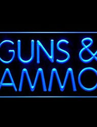 armes à feu des munitions publicité conduit de lumière de signe
