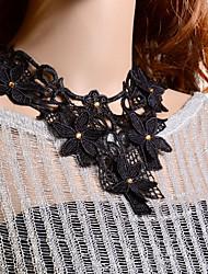 Omuto Fashion Spitze-Blumen-Splicing Edelstein-Halsketten