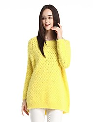 OSA Women's O-neck Pure Color Loose Bottoming Cardigan Outwear