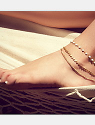 Shixin® Fashion Pearl Golden Shinning Anklet(1 Pc)