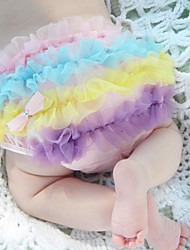 Cute Baby Pettiskirt Ruffle mutandine della ragazza Slip Bloomer copertura del pannolino Sz-S 6-24M