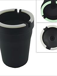 Carking Cup ™ en forme de Matt Finish Glow-in-the-Dark voiture Cendrier-Noir