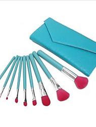 9Pcs with A Bag of High-quality Nylon Hair Makeup Brush Sets Green Lake
