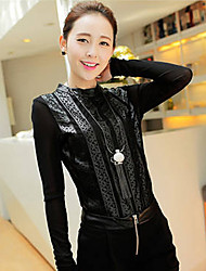 Women's Tops & Blouses , Mesh/Leather Casual WLLE