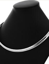 Colliers Tendance Colliers chaînes Bijoux Forme de Cercle Acier inoxydable Acier au titane Hommes Cadeau Argent