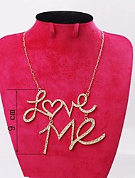 Super Exaggerated Punk Rock Heavy Metal LOVE ME Short Fashion Necklace