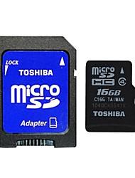 toshiba tarjeta micro SDHC TF w / adaptador sd (16gb / class4 de)