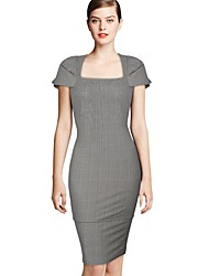 Womens New Cele Stil Stereo-Sleeve dünnes Kleid
