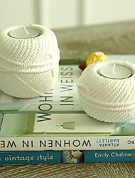 "4""Modern Simple Style Ball of Wool Design Ceramic Candle Holder"