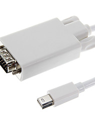 Mini DisplayPort-naar-VGA Man Man Wit Video kabel voor MacBook (180cm)