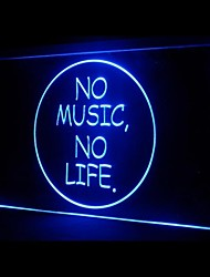 No Music No Life Advertising LED Light Sign