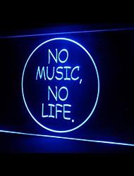 No Music No Life Advertising LED Light Sign