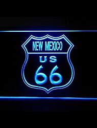 Маршрут 66 США Нью-Мексико Реклама светодиодные Вход