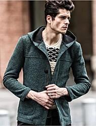 Männer Casual Splice schlanke Kapuzenoberbekleidung