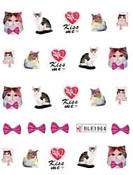 5PCS Pet Cat Pattern печатание перехода воды Nail Art Декорация BLE-1964
