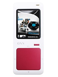 "ONN Q7 Ultra-Slim 1.8"" Screen MP3 Player with TF / FM -Red(8GB)"