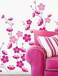 Createforlife® Cartoon Pink Flowers Blossoms Kids Nursery Room Wall Sticker Wall Art Decals