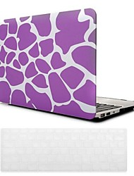 Purple Deer Grain Design PC Hard Case with Keyboard Cover Skin for MacBook Air