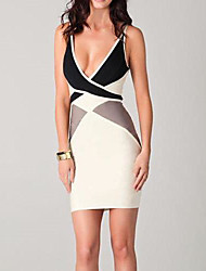 Women's Deep V Backless Sexy Bodycon Dress