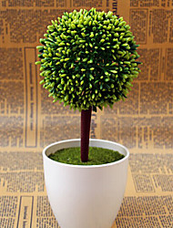 "10.4""H Pastoral Round Ball Plant in Polytene Vase"
