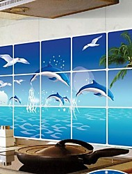 Doudouwo® Animals The Dolphin Anti-Oil Wall Stickers