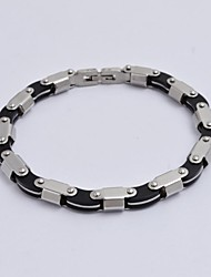 Fashion Men's TItanium Steel Motorcycle Chain Health Energy  Bracelet