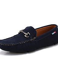 Zapatos de Hombre Casual Cuero Mocasines Rojo/Gris/Azul Marino
