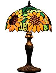Tiffany Lampes de table avec le tournesol et Perles de Verre Pour la Chambre D12031T de lampe de chevet ou des enfants