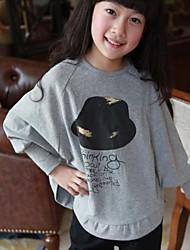 Tee-shirts Fille de Imprimé Coton Automne / Printemps Gris