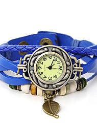 wagen u echtem Leder lässt Anhänger Armband Armbanduhren