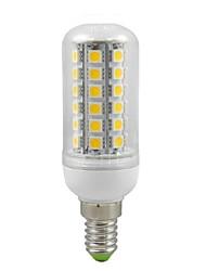 E14 Bombillas LED de Mazorca T 48 SMD 5050 500 lm Blanco Cálido Decorativa AC 100-240 V