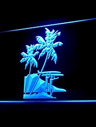 Tropical Surf Advertising LED Light Sign