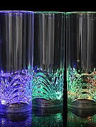 comodo el bar dedicado emisores de luz LED de la noche de cristal recta