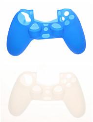 Case Skin 2pcs protetora de silicone para PS4 Controlador
