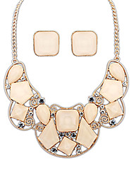 Before Women's A Set Of Cut Out Necklace And Square Earring