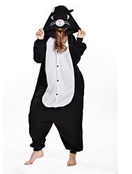novo cosplay gato preto polar adulto kigurumi pijama