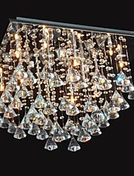 20w Chandelier ,  Traditional/Classic Chrome Feature for Crystal Metal Living Room / Bedroom / Dining Room
