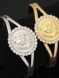 U7® High Quality 18K Chunky Gold Platinum Plated Lion Head Cuff Bracelet Bangle for Women