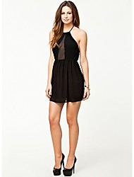 Topro Black Mini Chiffon Dress